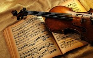 Instrumento-musical-sobre-notas-de-bellas-canciones-